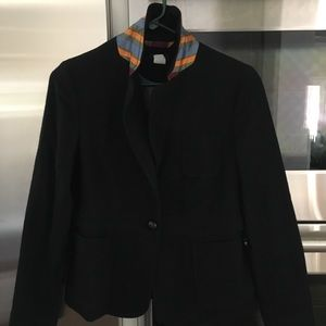 Jcrew black wool blazer size 8